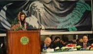 Dr. Noor Fatima giving her speech