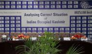 "Stage View In the Round Table Discussion on ""Analysing the Current Situation of Indian Occupied Kashmir"""