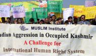 Participants of walk on the occasion of Kashmir Solidarity Day