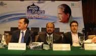Left to Right Mr. Akram Zaki, Former Secretary MOFA, Pakistan, His Excellency Mr. Sher Ali Jananov, Ambassador of Tajikistan to Pakistan, Prof. Dr. Ahmed Yousif Al Draiweesh, President International Islamic University, Islamabad, Dr. Husnul Amin Executive Director, Iqbal International Institute for Research & Dialogue, IIUI, & Dr. Aaliya Sohail Khan, Principal Govt. Post Graduate College